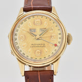1950's Vintage Movado Calendomatic Ref. 46351 14k Yellow Gold Watch