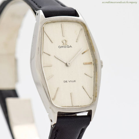 1969 Vintage Omega De Ville Hexagonal-shaped Stainless Steel Watch