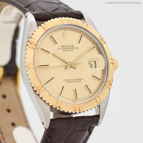 1967 Vintage Rolex Thunderbird Datejust Reference 1625 14k Yellow Gold & Stainless Steel Watch