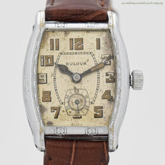 1929 Vintage Bulova 14k White Gold Filled Watch