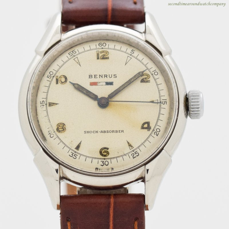 1950's-60's era Benrus Ref. Bh11 Stainless Steel Watch