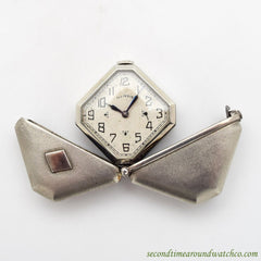 1931 Vintage Illinois Caprice Stainless Steel Purse Watch