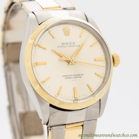 1964 Vintage Rolex Oyster Perpetual Ref. 1003 14k Yellow Gold & Stainless Steel Watch