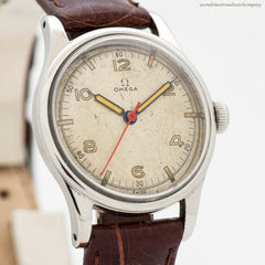 1942 Vintage Omega WWII-era Military Stainless Steel Watch