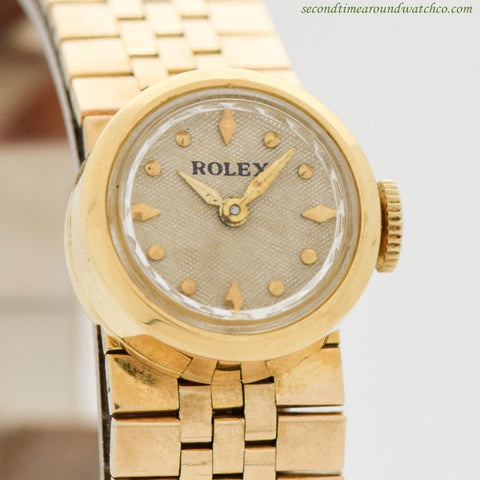 1970's Vintage Rolex Ladies Chameleon 18K Yellow Gold Watch