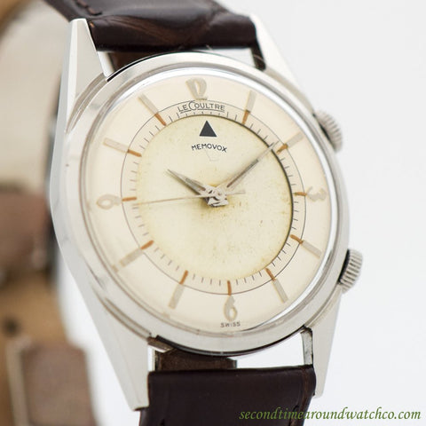 1952 Vintage Jaeger LeCoultre Memovox Alarm Ref. 2404 Stainless Steel Watch