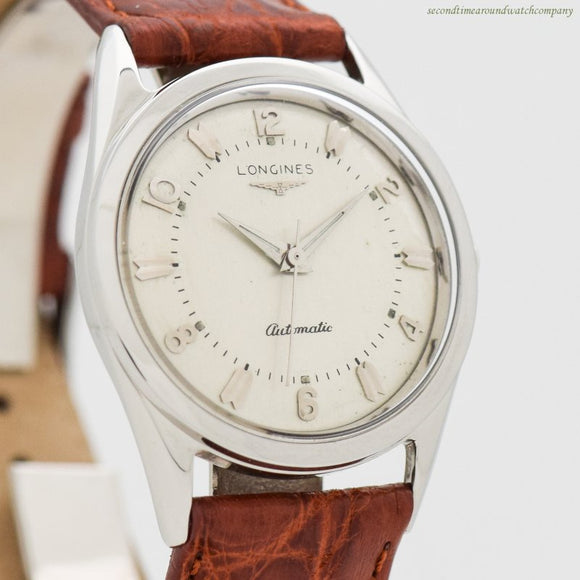 1956 Vintage Longines Automatic Stainless Steel Watch