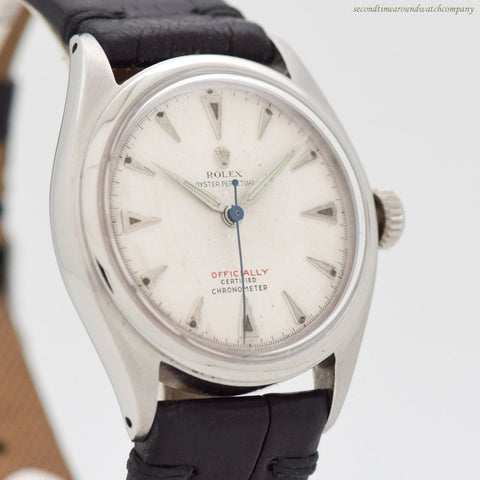 1951 Vintage Rolex Oyster Perpetual Ref. 6084 Stainless Steel Watch