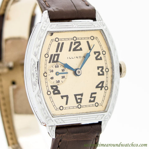 1926 Vintage Illinois Spartan Nickle Watch