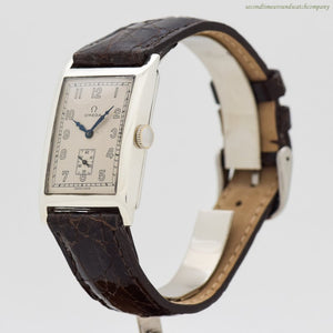 1929 Vintage Omega Rectangular-shaped Silver Watch