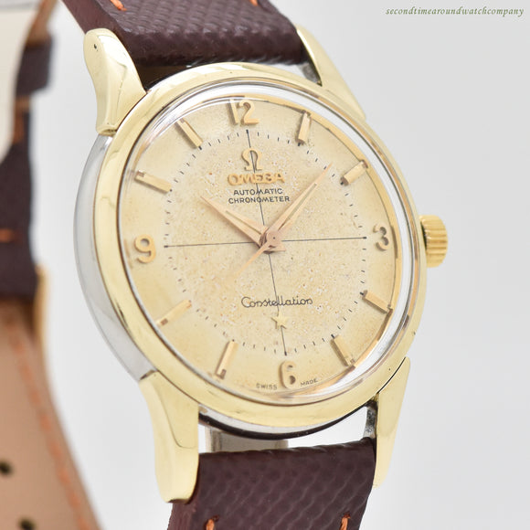 1961 Vintage Omega Constellation Reference 14381-61-SC 14k Yellow Gold Shell Over Stainless Steel Watch