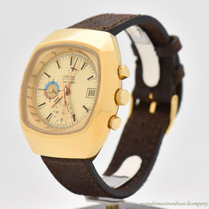 1972 Omega Seamaster 2-Register Chronograph Yellow Gold Plated Ref. 176.005 Watch