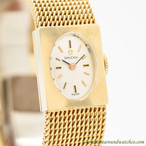 1967 Vintage Omega Ladies 14k Yellow Gold Watch