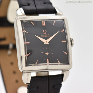 "1949 Vintage Omega Square-shaped ""Cioccolatone"" Stainless Steel Watch"
