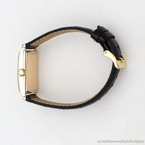 1935 Vintage Tiffany & Co. Rectangular-shaped 14k Yellow Gold Watch