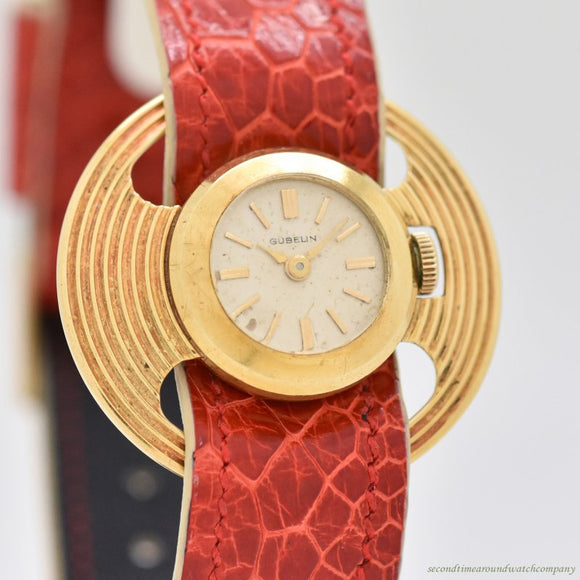 1980's Vintage Gubelin Ladies Chameleon 18k Yellow Gold Watch