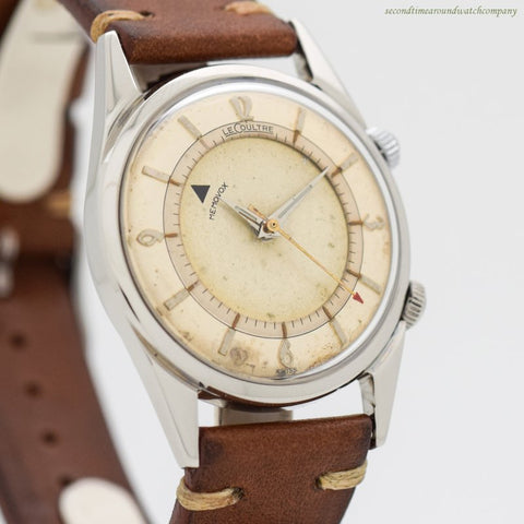 1950's era Jaeger LeCoultre Memovox Alarm Ref. 2404 Stainless Steel Watch