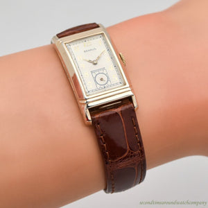 1960's Vintage Benrus Rectangular-shaped 10k Yellow Gold Plated Watch