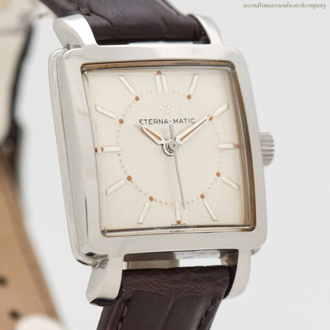 1952 Vintage Eterna Square-shaped Automatic Stainless Steel Watch