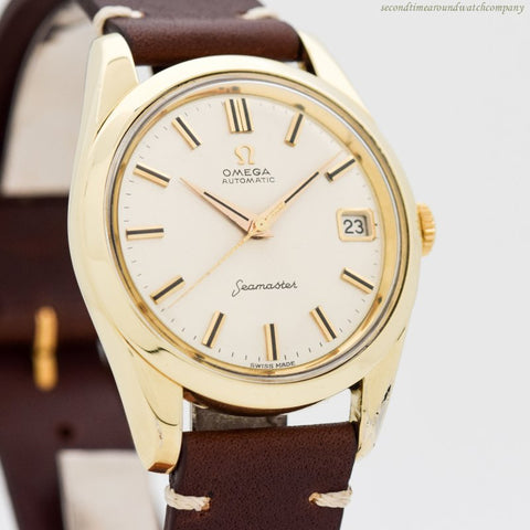1961 Vintage Omega Seamaster Ref. 14763-61-SC 14k Yellow Gold Shell & Stainless Steel Watch