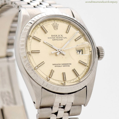 1968 Vintage Rolex Datejust Ref. 1600 Stainless Steel Watch