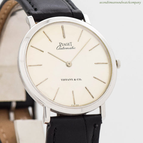 1980's Piaget Ultra-thinomatic 18K White Gold Watch
