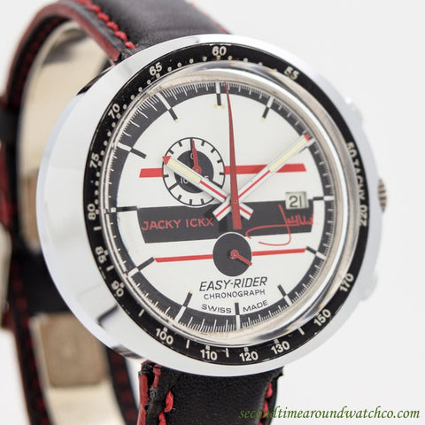 1970's Vintage Jacky Ickx Easy Rider Chronograph Stainless Steel Watch