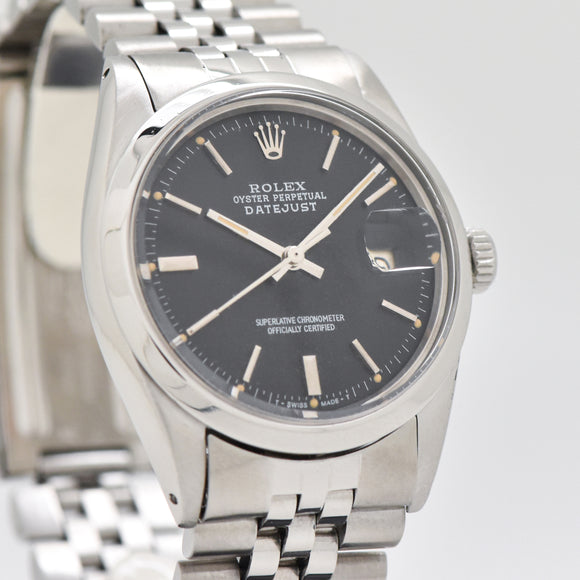 1977 Vintage Rolex Datejust Reference 1600 Stainless Steel Watch (# 13444)