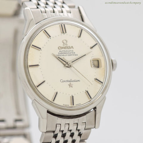 1966 Vintage Omega Constellation Reference 168.005 Stainless Steel Watch