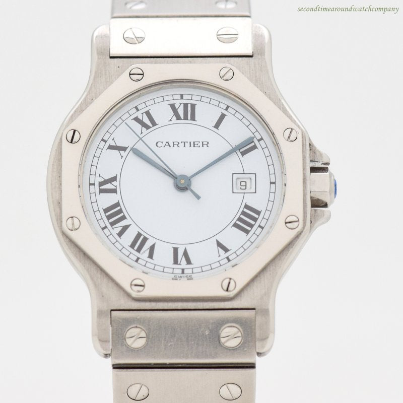 1991 Cartier Santos De Cartier Octagon Stainless Steel Watch