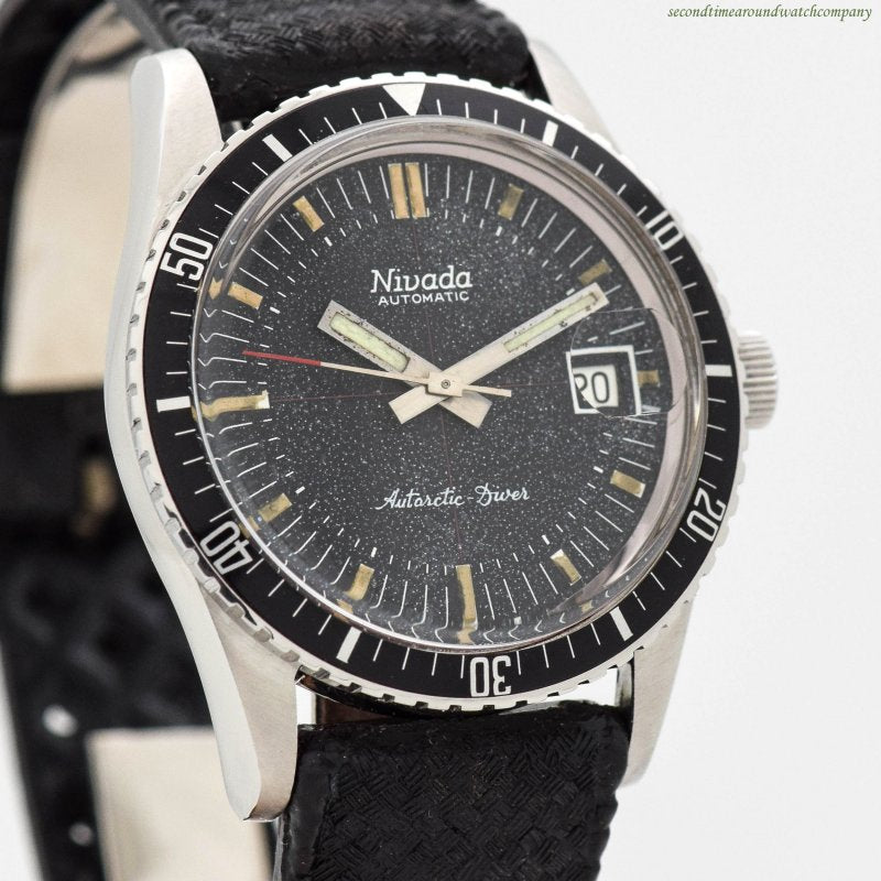 1970's Nivada Antarctic Diver Reference 3260 Stainless Steel Watch