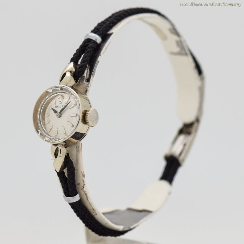 1960's Vintage Rolex Ladies 14k White Gold Watch