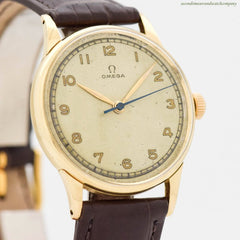 1946 Vintage Omega 14k Yellow Gold Watch