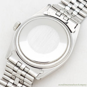 1968 Vintage Rolex Datejust Ref. 1601 14k White Gold & Stainless Steel Watch