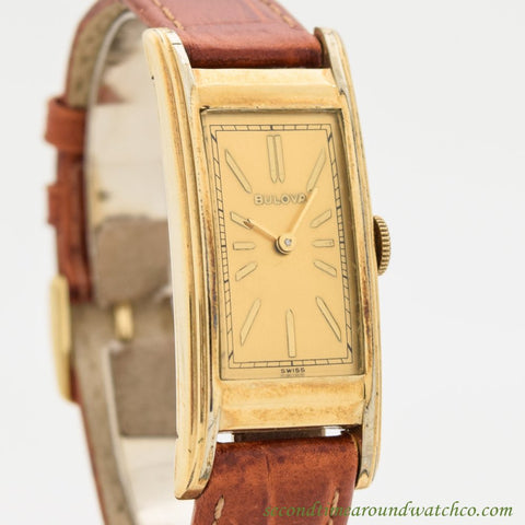 1950's Vintage Bulova Curvex Yellow Gold Filled Watch