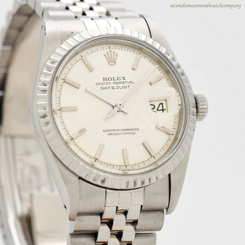 1965 Vintage Rolex Datejust Ref. 1600 Stainless Steel Watch