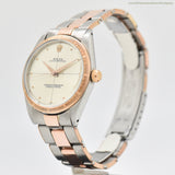 1965 Vintage Rolex Zephyr Reference 1008 14k Rose Gold & Stainless Steel Watch