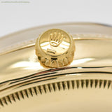 1958 Vintage Rolex Bombe Reference 6593 14k Yellow Gold Watch