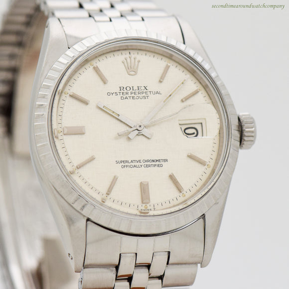1972 Vintage Rolex Datejust Ref. 1603 Stainless Steel Watch