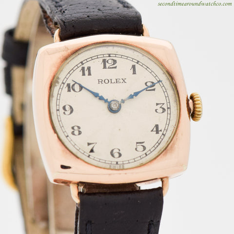 1920's Vintage Rolex Ladies Ref. 3889 9K Rose Gold Watch