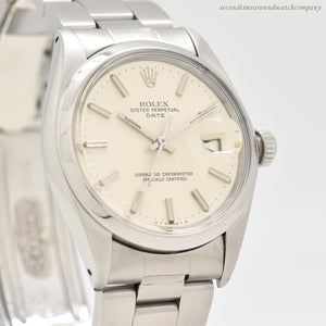 1973 Vintage Rolex Date Automatic Reference 1500 Stainless Steel Watch