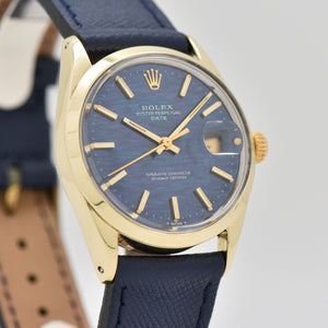 1970 Vintage Rolex Date Automatic Reference 1550 14k Yellow Gold Shell Over Stainless Steel Watch (# 13320)