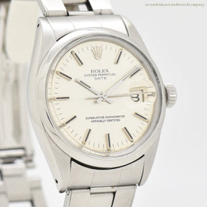 1968 Vintage Rolex Date Automatic Reference 1500 Stainless Steel Watch