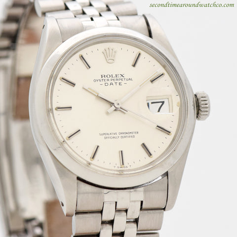 1970's Vintage Rolex Date Automatic Ref. 1500 Stainless Steel Watch