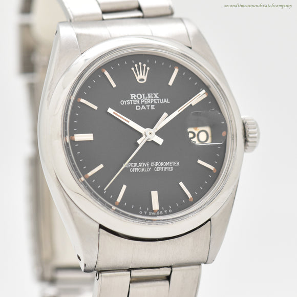1966 Vintage Rolex Date Automatic Reference 1500 Stainless Steel Watch