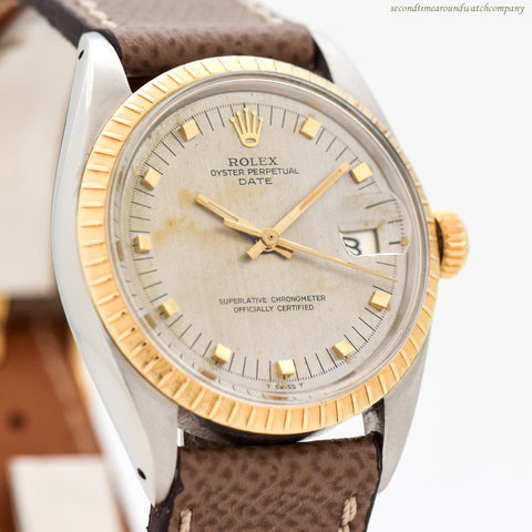 1968 Vintage Rolex Date Automatic Ref. 1505 14K YG & SS Watch