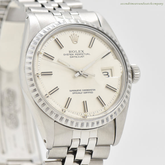 1971 Vintage Rolex Datejust Reference 1603 Stainless Steel Watch