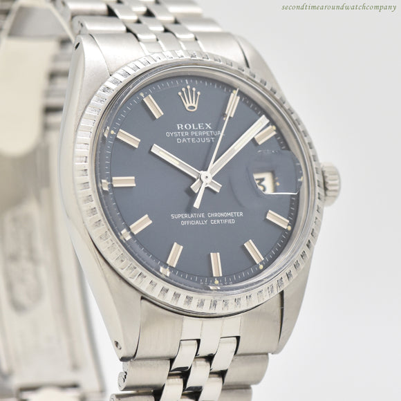 1972 Vintage Rolex Datejust Reference 1603 Stainless Steel Watch