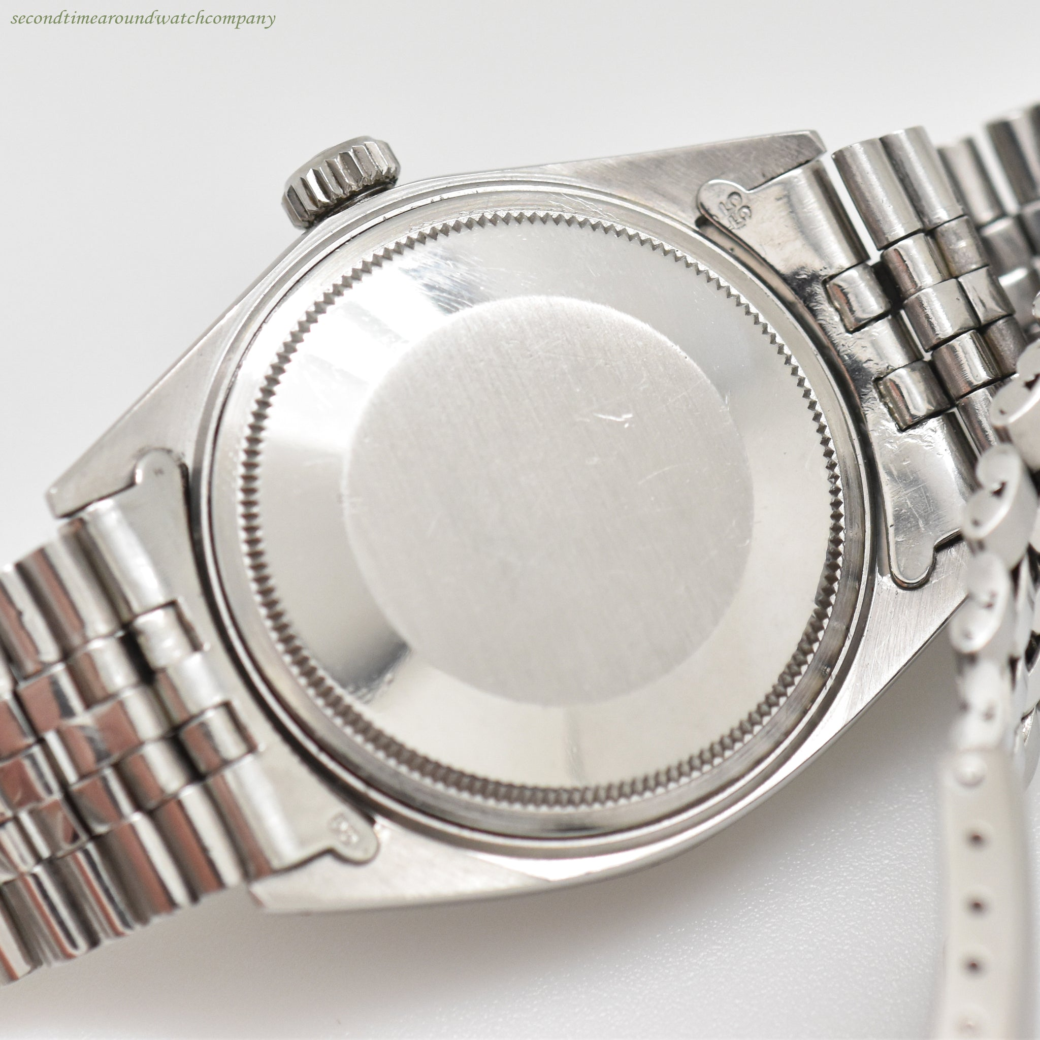 1970 Vintage Rolex Datejust Ref. 1601 14K White Gold & Stainless Steel Watch