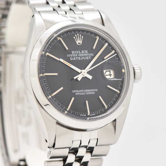 1972 Vintage Rolex Datejust Reference 1600 Stainless Steel Watch